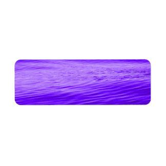 Violet Purple Water Label