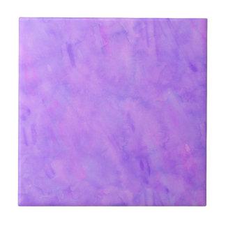 Violet Purple Watercolor Texture Pattern Ceramic Tile