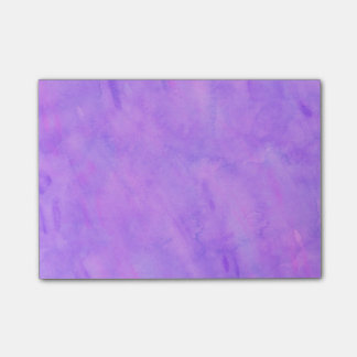 Violet Purple Watercolor Texture Pattern Post-it® Notes
