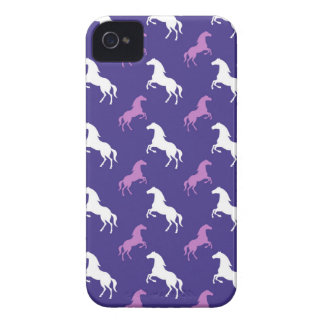 Violet Purple & White Horse; Equestrian iPhone 4 Cover