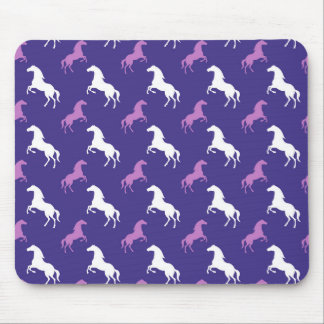 Violet Purple & White Horse; Equestrian Mouse Pad