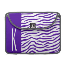 Violet Purple & White Zebra Stripes Animal Print MacBook Pro Sleeve