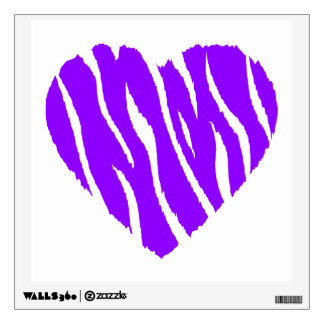 Violet Purple Wild Heart Wall Decal