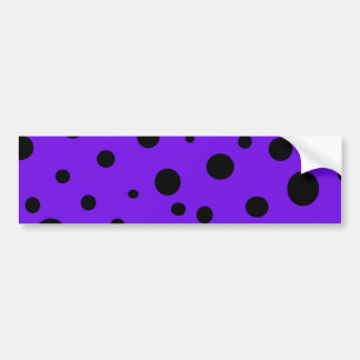 Violet Purple with Black Polka Dots Products Bumper Sticker
