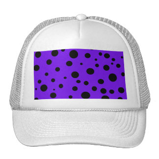 Violet Purple with Black Polka Dots Products Trucker Hat