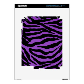 Violet Purple Zebra Striped Collection iPad 3 Decal