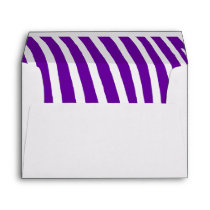 Violet Purple Zebra Stripes Envelope