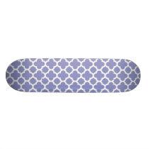 Violet Quatrefoil Trellis Pattern Skateboard Deck