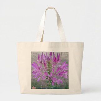 Violet Queen Cleome Tote Bags