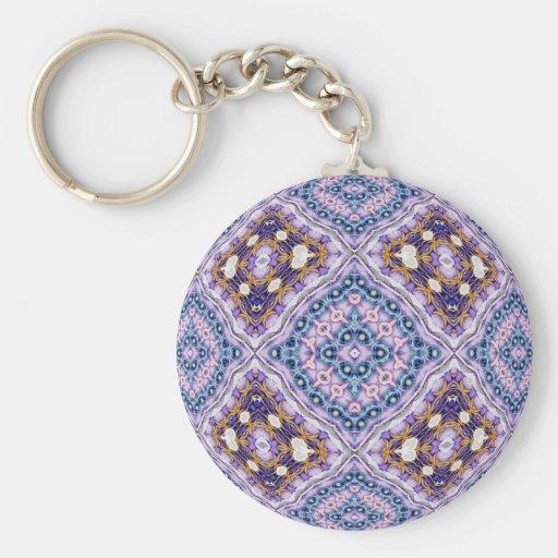 Violet Quilt Keychains