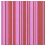 [ Thumbnail: Violet & Red Colored Striped/Lined Pattern Fabric ]