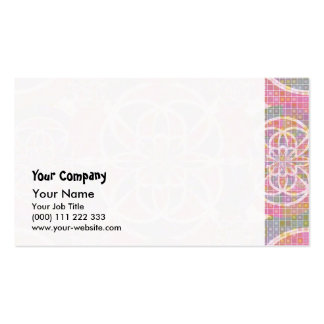 Violet red geometry Double-Sided standard business cards (Pack of 100)