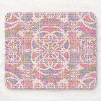 Violet red geometry mouse pad