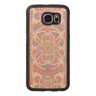 Violet red geometry wood phone case