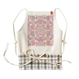 Violet red geometry zazzle HEART apron