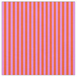 [ Thumbnail: Violet & Red Stripes/Lines Pattern Fabric ]