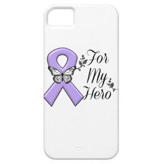 Violet Ribbon For My Hero Hodgkins Lymphoma iPhone SE/5/5s Case