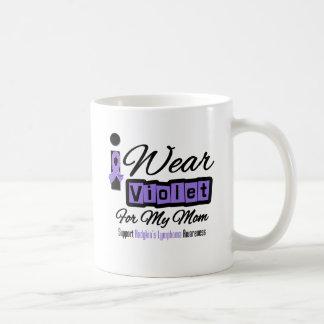 Violet Ribbon Hodgkin's Lymphoma - Mom Classic White Coffee Mug