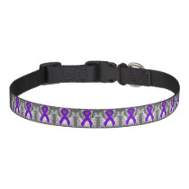 Violet Ribbon with Wings Pet Collar