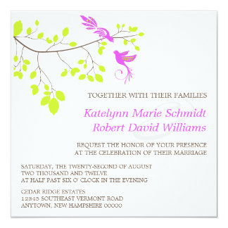 Violet Romance Wedding Invitation