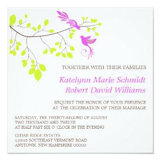 Violet Romance Wedding Invitations