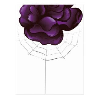 Violet Rose and Spider Postcard