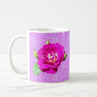 Violet Rose Damask mug