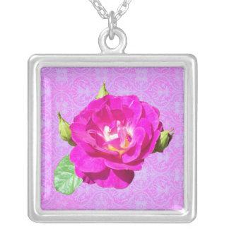Violet Rose Damask necklace