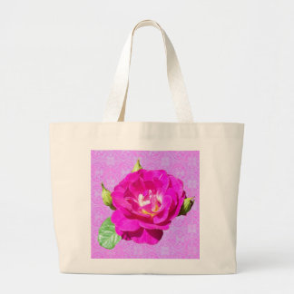 Violet Rose Damask tote bag