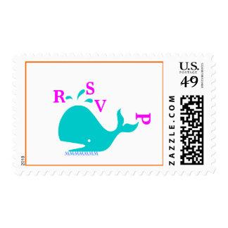 Violet RSVP Stamp