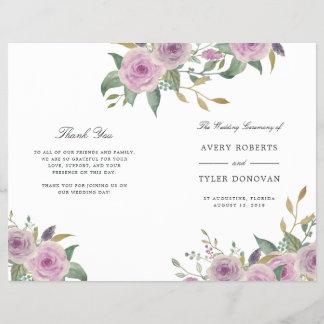 Violet & Sage Folded Wedding Program