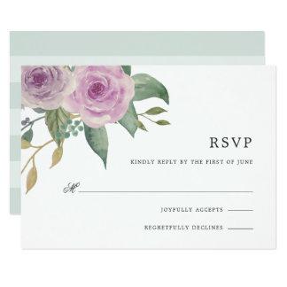 Violet & Sage RSVP Card