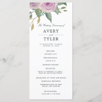 Violet & Sage Wedding Ceremony Program