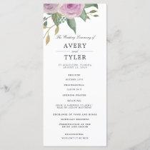 Violet & Sage Wedding Ceremony Program