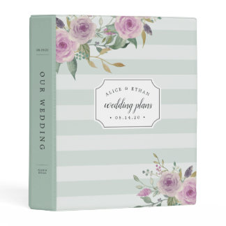 Violet & Sage Wedding Mini Binder