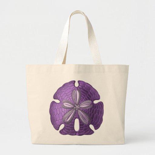 Violet Sand Dollar Jumbo Tote Bag
