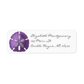 Violet Sand Dollar Labels