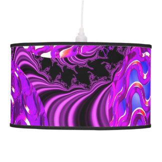 Violet Sea Dance, Abstract Purple Bubbles Pendant Lamps