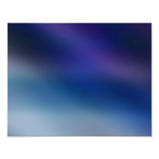 Violet, Slate Blue & Gray Abstract Glow Poster