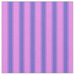 [ Thumbnail: Violet & Slate Blue Striped/Lined Pattern Fabric ]