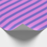 [ Thumbnail: Violet & Slate Blue Striped/Lined Pattern Wrapping Paper ]