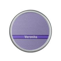 Violet small plaid pattern. Add name. Bluetooth Speaker