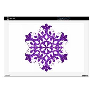 violet-snowflake laptop skin
