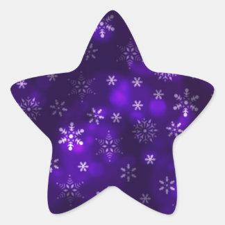 Violet Snowflakes Star Sticker