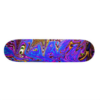 Violet Splash on Skateboard