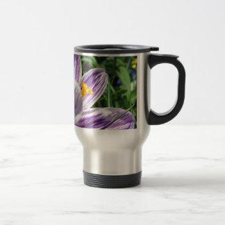 Violet spring crocus 15 oz stainless steel travel mug