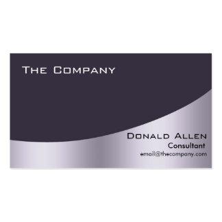 Violet Steel Metal Professional Black Elegant Double-Sided Standard Business Cards (Pack Of 100)