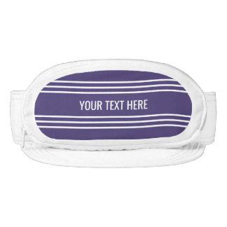 Violet Stripes Custom Text Cap-Sac visors
