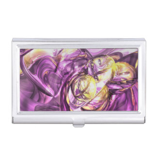 Violet Summer Abstract Case For Business Cards