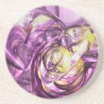 Violet Summer Abstract Coaster